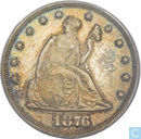 USA 20 cents 1876