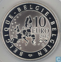 "België 10 euro 2012 (PROOF) ""75th anniversary of the death of Pierre de Coubertin"""