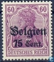 timbres allemands portant l'inscription «Belgien»