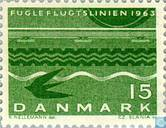 "Postage Stamps - Denmark - Inauguration of the ""crow flies"" (y)"