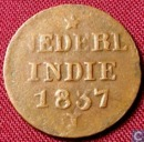 Dutch East Indies 1 cents 1837 J