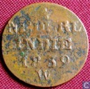 Dutch East Indies 1 cent 1839 W