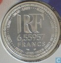 "Coins - France - France 6,55957 francs 1999 ""Introduction of the Euro"""