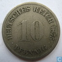 German Empire 10 pfennig 1875 (F)