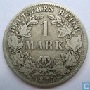 Empire allemand 1 mark 1875 (D)
