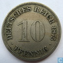 German Empire 10 pfennig 1875 (D)