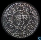 British Indies ¼ rupee 1918 (Calcutta)