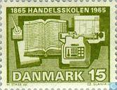 Postage Stamps - Denmark - 100 years trade school