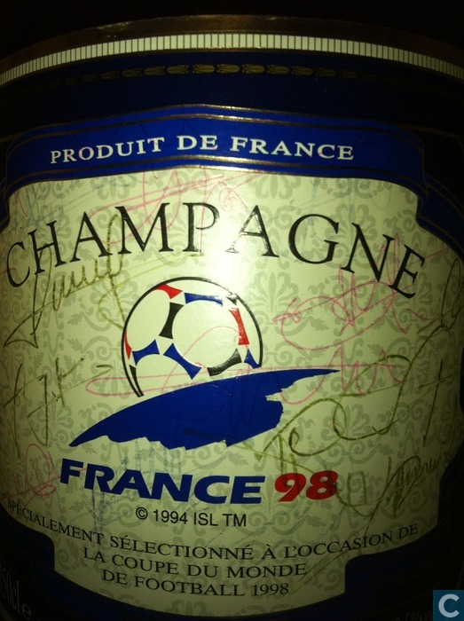 bouteille champagne sign e coupe monde 98 catawiki. Black Bedroom Furniture Sets. Home Design Ideas