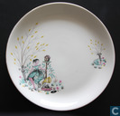 """In The Garden Chair"" Plate"