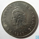 French Polynesia 50 francs 1967