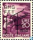 Fair of Triest. Italian stamps surcharged