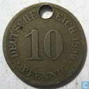 German Empire 10 pfennig 1889 (J)
