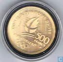 "Frankrijk 500 francs 1990 (PROOF) ""1992 Olympics - Bobsledding"""
