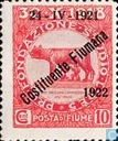 Romulus and Remus, with overprint