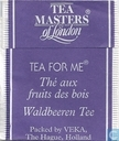 Tea bags and Tea labels - Tea Masters of London - Bosvruchten thee  Wild fruits tea