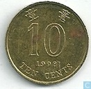 Hong Kong 10 cents 1998