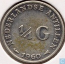 Netherlands Antilles ¼ gulden 1960
