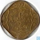 Inde britannique ½ anna 1943 (• INDIA •)