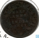 British India half anna 1862 (Mumbai/Bombay - copper)