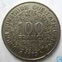 West African States 100 francs 1973