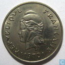 New Caledonia 10 francs 1970