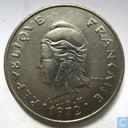 New Caledonia 20 francs 1972