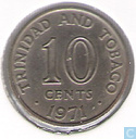 Trinidad and Tobago 10 cents 1971