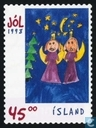 Postage Stamps - Iceland - Children's paintings