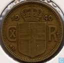 Iceland 1 krona 1940 (mint mark heart)