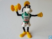 Goofy with dumbbell