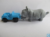 Rhino and jeep