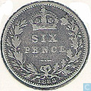 United Kingdom 6 pence 1888