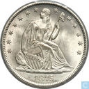 USA half dollar 1875 CC