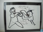 Herman Brood original large drawing