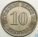 German Empire 10 pfennig 1875 (A)