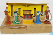 Petrol Pumps and Oil Bins Set