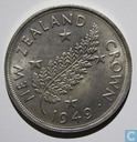 "New Zealand 5 shillings 1949 ""Proposed Royal Visit"""