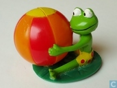 Frog with beach ball