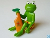Frog with cleanser
