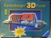 3D puzzel Watermolen (glow in the dark)
