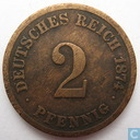 German Empire 2 pfennig 1874 (C)