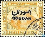Sphinx and pyramid of Giza with overprint