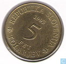 "Slovenia 5 tolarjev 1993 ""300th Anniversary - Establishment of Operosorum Labacensium Academy"""