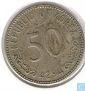 South Korea 50 hwan 1961 (year 4294)