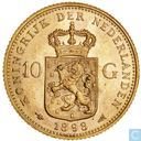 Netherlands 10 gulden 1898 (without point)