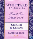 Tea bags and Tea labels - Whittard of Chelsea - Ginger & Lemon