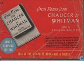 Great poems from Chauser to Whitman