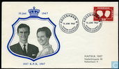 Postage Stamps - Denmark - Marriage Margretha