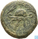 Judea, AE 8 Prutot, 40-4 BC., Herod I the Great, Samaria (Sebaste?)